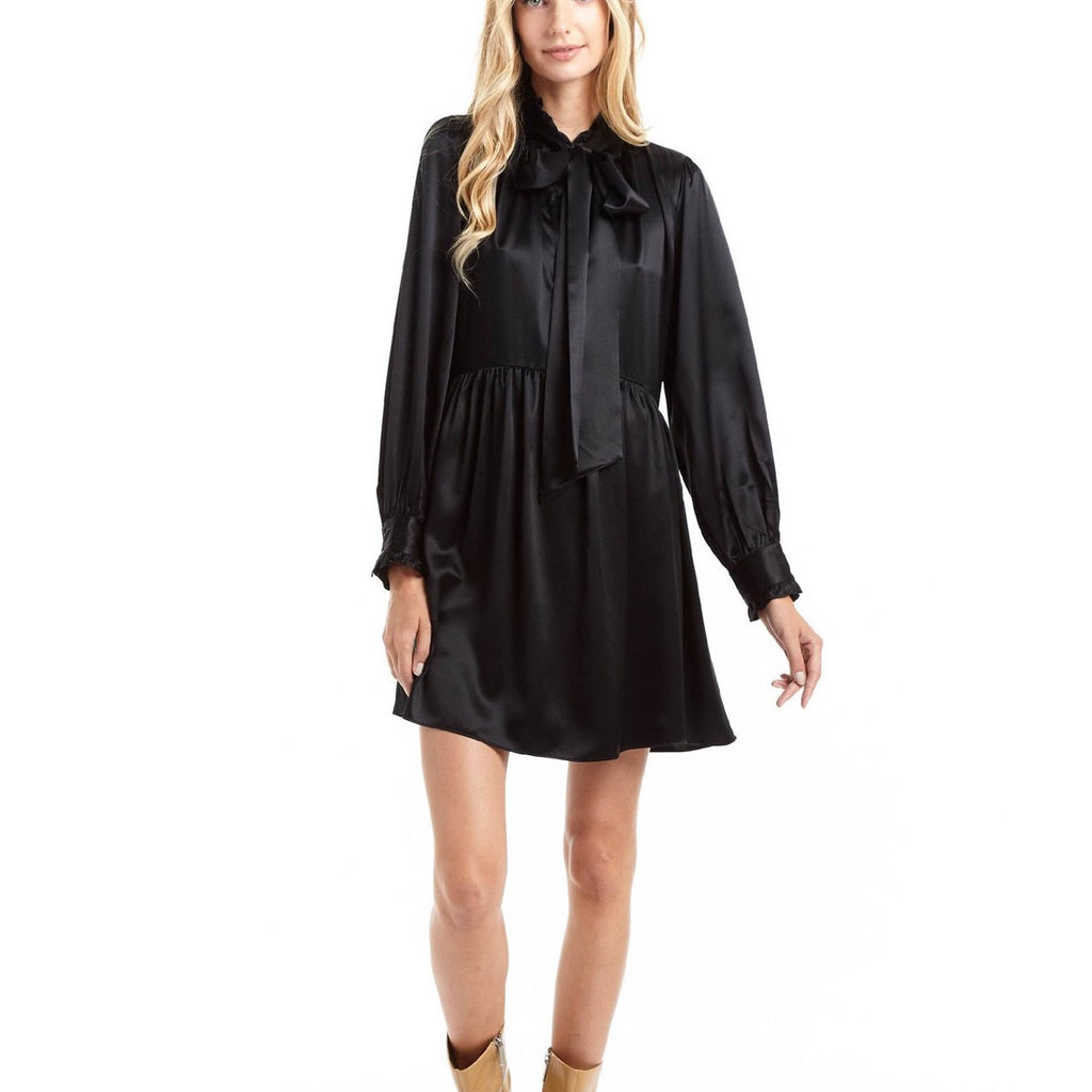 Secret Mission- Sorrento Dress in Black