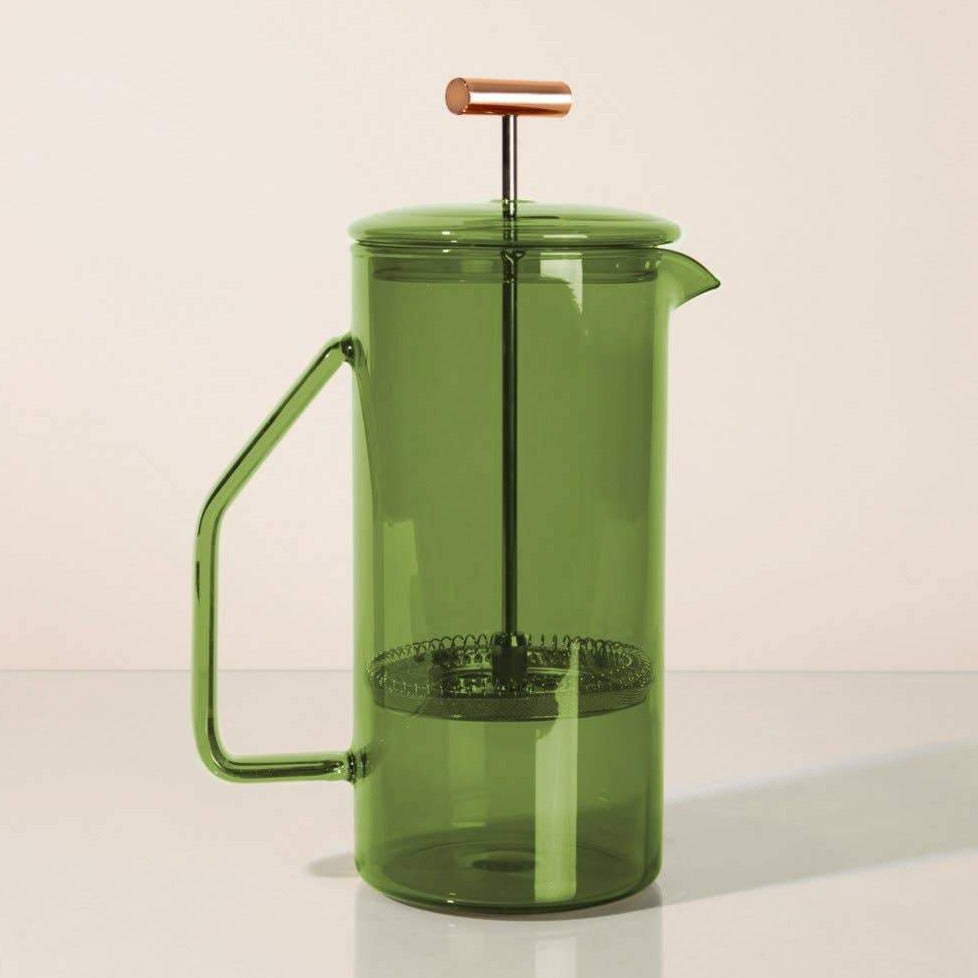 Glass French Press- Verde