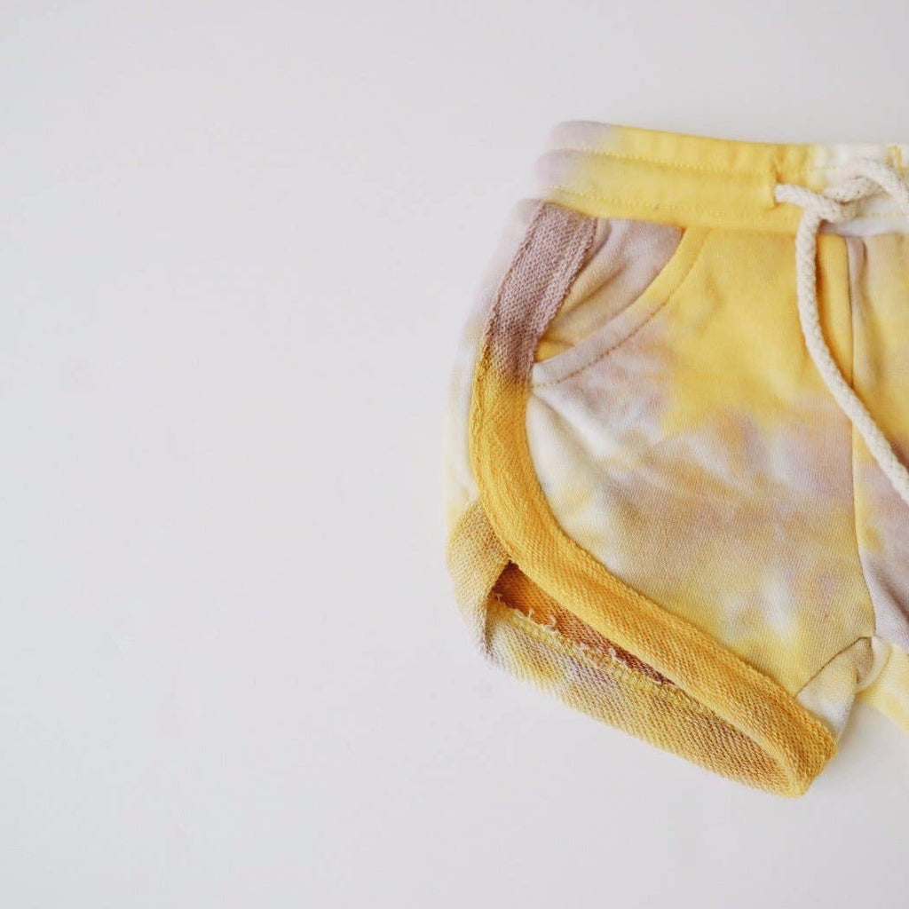 Orcas Lucille - Tie Dye Track Shorts Gold + Lavender