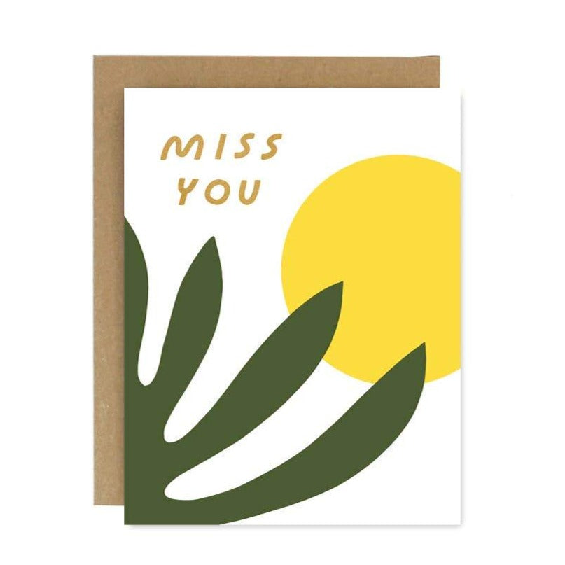 Worthwhile Paper - Miss You Shapes & Colors Card