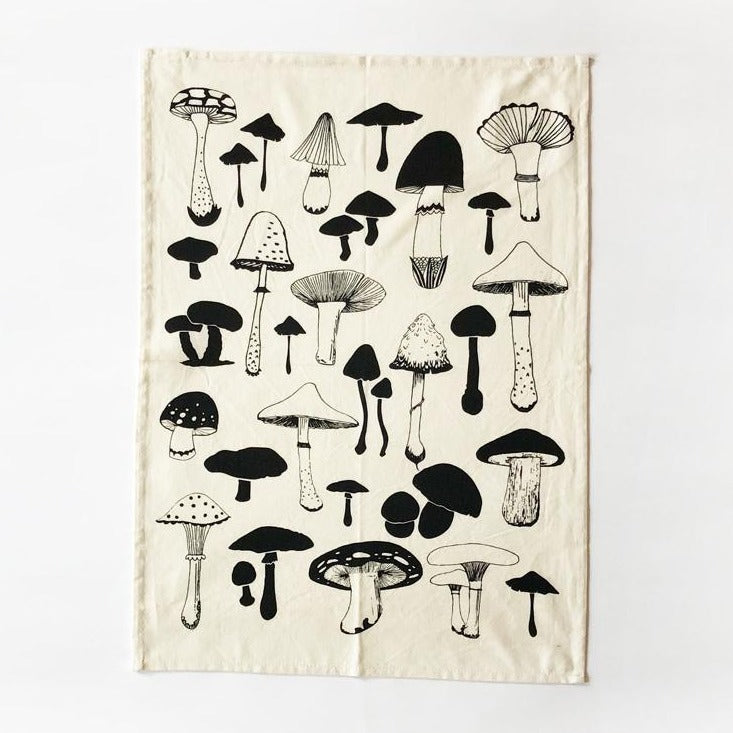 The Rise and Fall - Mushrooms Kitchen Towel