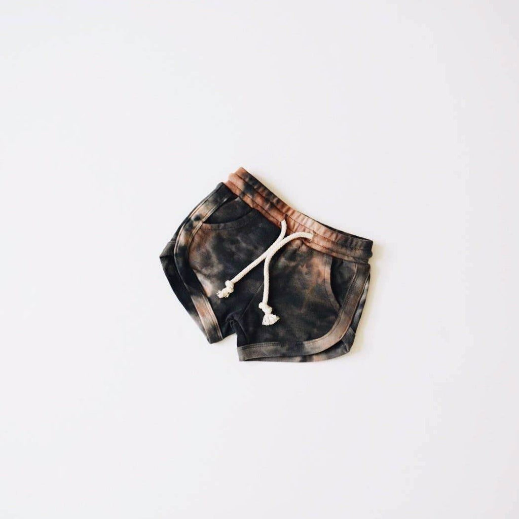 Orcas Lucille - Acid Wash Track Shorts - Granite