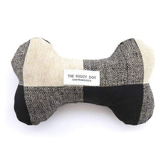 The Foggy Dog - Buffalo Check Dog Bone Squeaky Toy