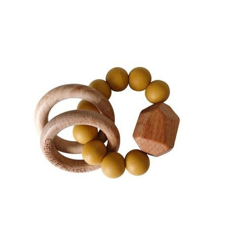 Chewable Charms - Hayes Silicone + Wood Teether Ring