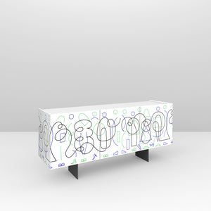 Buffet Three Doors : White Doodle