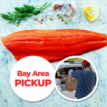 Load image into Gallery viewer, San Francisco Area Pick-Up: Tom's Wild Alaskan Sockeye Salmon in insulated carry bag (minimum 6 lbs, ~4 individually sealed fillets)