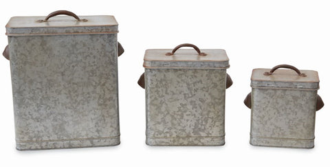 Tin Canister Set by Mud Pie