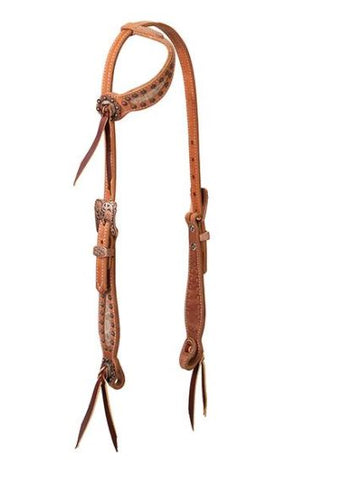 Copper Blossom One Ear Headstall by Weaver