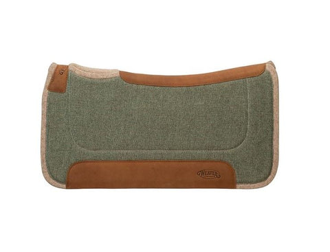 Contoured Jute Wool Blend Felt Saddle Pad by Weaver