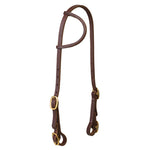 "Working Cowboy Sliding Ear Headstall Buckle Bit Ends 5/8"" Solid Brass"