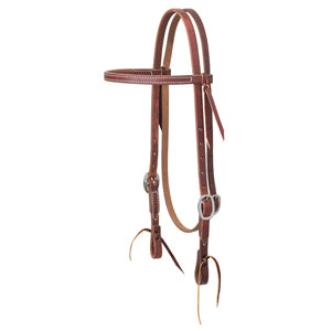 "Working Cowboy Economy Browband Headstall, 5/8"", Stainless Steel"