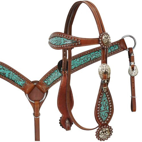 Showman ® Filigree Headstall and Breast Collar Set