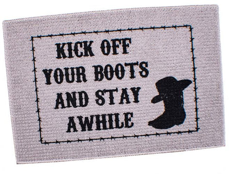 Welcome Mat - Kick Your Boots Off