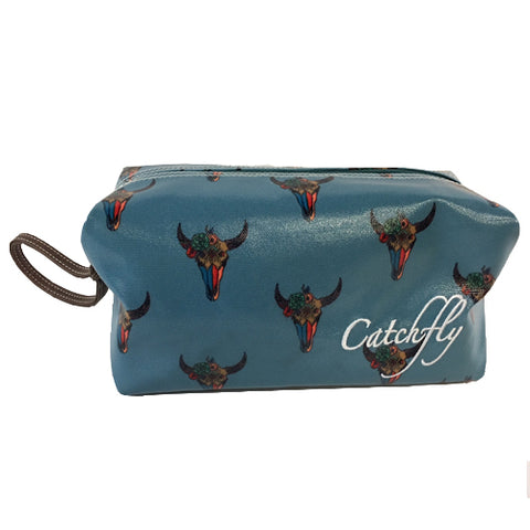 Catchfly Large Cosmetic Bag - Tribal Skull