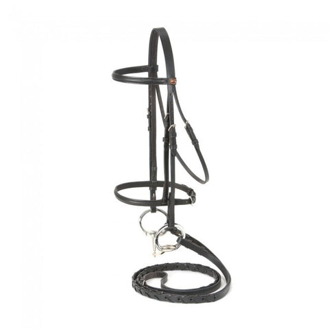 Silver Fox Raised Snaffle Bridle - Miniature Size