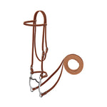 Harness Leather Browband Bridle with Single Cheek Buckle, Pony