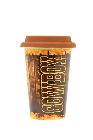 Porcelain Travel Cup - 20 oz - Cowboy
