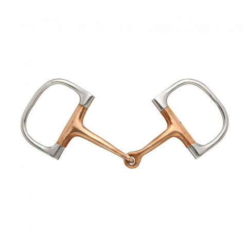Kelly Silver Star Copper Mouth Barrel D Ring Snaffle