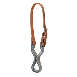 Harness Leather and Aluminum Cribbing Strap