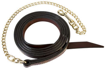 "Single-Ply Horse Lead, 1"" with 24"" Brass Plated Chain"