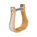 "Wooden Stirrups, Bell, 2-1/2"" Tread"