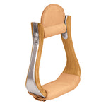 Wooden Stirrups with Leather Treads, Cutter