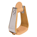 Wooden Stirrups with Leather Treads, Deep Roper