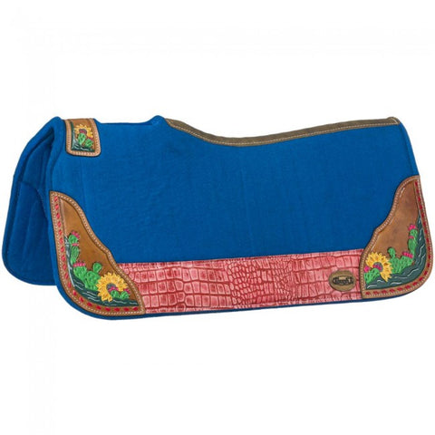 Tough-1 Hand Painted Cactus / Sunflower Saddle Pad