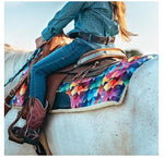 "Kaleidoscope Saddle Pad - Pony Size - 23""x 23"""