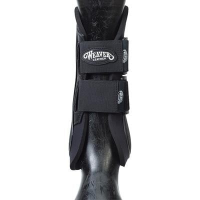 Open Front Hard Shell Boots with Xtended Life Closure  System, Black