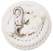 White Cotton Lead Rope with Nickel Plated Bull Snap - 35-1906