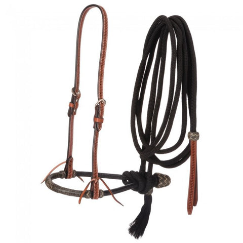 Tough-1 Basketweave Bosal Hanger, Bosal and Cord Mecate 45-317B