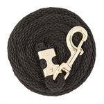 Value Lead Rope with Brass Plated 225 Snap, Black