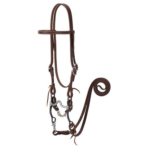 Weaver Working Tack Bridle with Medium Port Mouth Bit - 20-0364