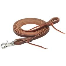 "Oiled Canyon Rose Heavy Harness Roper Reins, 7-1/2' - 1/2"" Wide"