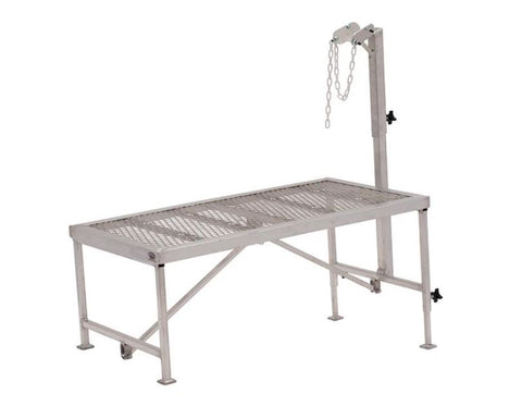 "Complete Aluminum Trimming Stand w/ Solid Adjustable Cheek - 24-1/2""x48-1/2"""