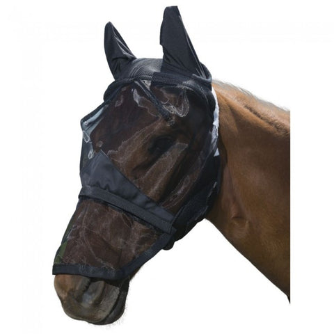 Tough 1 Deluxe Comfort Mesh Fly Mask with Mesh Nose