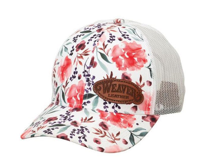 Weaver Leather Floral Watercolor Mesh Cap