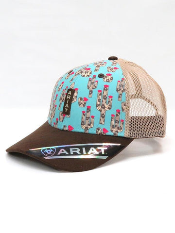 Ariat Cactus and Leopard Trucker Cap