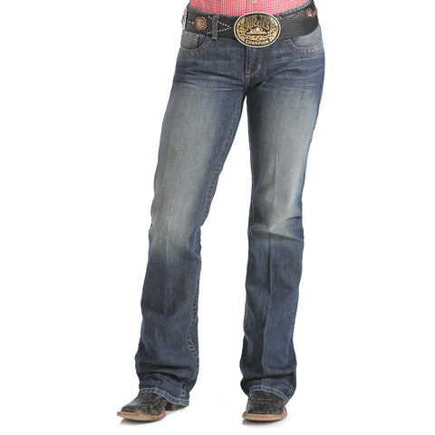 Cinch Womens Jeans - Ada Relaxed Boot Cut Jeans - Medium Stonewash
