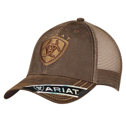 Ariat Mens Cap - Brown Oilskin