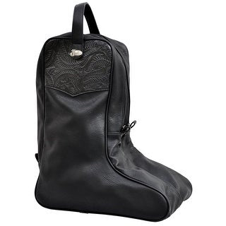 Black Floral Embossed Boot Bag DBB10