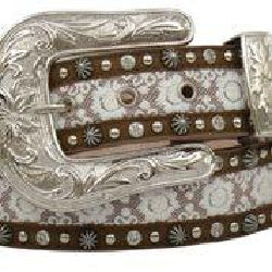 "3D Belt Angel Ranch 1 1/2"" Brown Ladies' Fashion Belt A3502"
