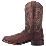 Dan Post Men's Alamosa Exotic Ostrich DP3875 Chocolate