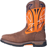 "Dan Post Men's Work Boots Water Proof  Composite Toe ""Storm"" with Orange"