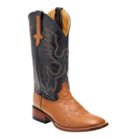 Ferrini Smooth Ostrich 10293-02 Cognac/Navy