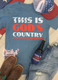 God's Country Unisex Tee on Chambray - by Cheeky's