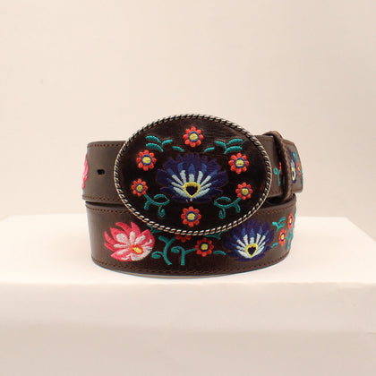 "Ladies Embroidered Belt with Buckle - 1-1/2"" Wide"