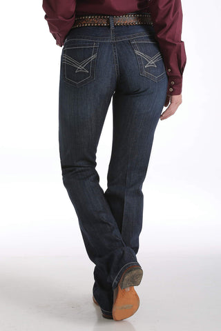 Cinch Womens Jeans - Ada Relaxed Boot Cut Jeans - Dark Stonewash