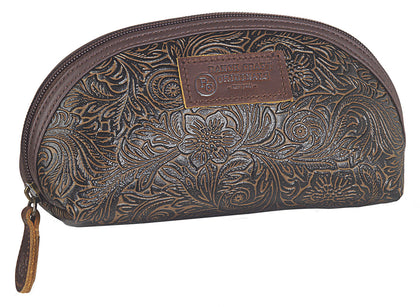 Small Tooled Make-up Bag